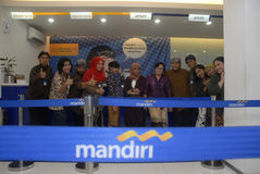 BUSINESS PLAN INDONESIANO DELLA BANCA DI MANDIRI Fotografia Stock