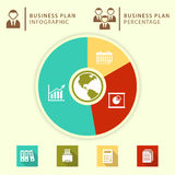 Business plan infographic Fotografie Stock Libere da Diritti
