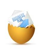 Business plan inside a broken egg. illustration Royalty Free Stock Photo