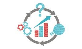 Business plan Logo Design Template Fotografie Stock Libere da Diritti