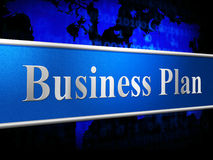 Business Plan Means Idea Commerce And Stratagem Stock Images