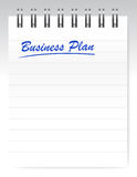 Business plan notebook page illustration design Stock Image