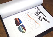 Business plan over table Stock Photography