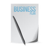 Business plan page and pen. illustration Royalty Free Stock Photos