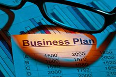 Business plan of a permanent establishment Royalty Free Stock Photo