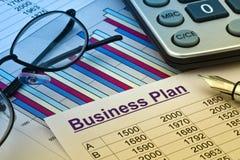 Business plan of a permanent establishment. The business plan for a company or business establishment. planning a young entrepreneur Stock Photos