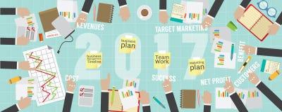 business plan piano 2017 di vista del pixel 8000x3200 Fotografia Stock