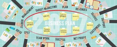 business plan piano 2017 di vista del pixel 8000x3200 Fotografie Stock Libere da Diritti