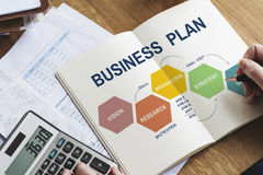 Business Plan Planning Strategy Solution Vision Concept Royalty Free Stock Photos