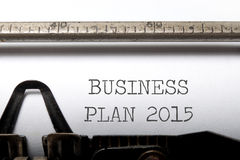 Business plan 2015 Royalty Free Stock Photo
