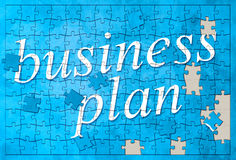 Business plan puzzle Stock Images