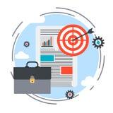 Business plan, report, portfolio vector concept. Business plan, report, portfolio flat design style vector concept illustration Stock Photo