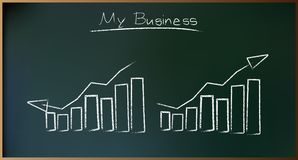 Business Plan on Schoolboard in Vector Royalty Free Stock Photography