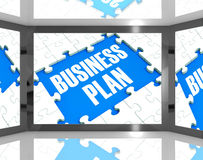 Business Plan On Screen Shows Marketing Strategies Royalty Free Stock Photo