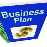 Business Plan Shows Management Strategy Royalty Free Stock Photos