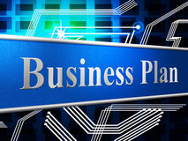 Business Plan Shows Project Plans And Formula Royalty Free Stock Images