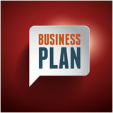 Business plan speech bubble red Royalty Free Stock Image