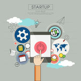 Business plan for start up.  Royalty Free Stock Photos
