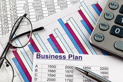 Business plan. A business plan for starting a business. ideas and strategies for business creation Stock Photo