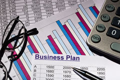 Business plan. A business plan for starting a business. ideas and strategies for self-employment Royalty Free Stock Images
