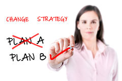 Business plan strategy changing. Royalty Free Stock Photography