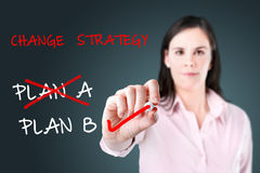 Business plan strategy changing. Stock Image