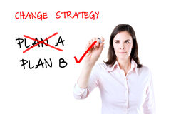 Business plan strategy changing. Stock Photo