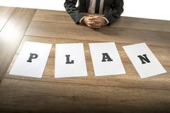 Business plan and strategy concept Stock Image