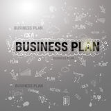 Business Plan Strategy Concept Startup Development Banner. Vector Illustration Royalty Free Stock Images