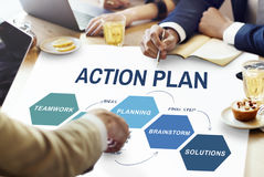 Business Plan Strategy Development Process Graphic Concept stock photography