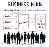Business Plan Strategy Diagram Concept stock image