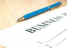 Business plan strategy with presentation in the office royalty free stock photos