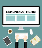 Business plan strategy Royalty Free Stock Image