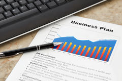 Business Plan on the Table Royalty Free Stock Images