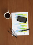 Business Plan on the Table Stock Image