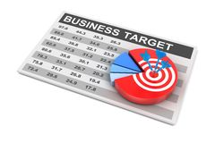 Business plan and target, 3d render. White background Royalty Free Stock Photography