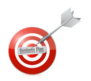 Business plan target illustration design Royalty Free Stock Images