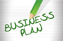 BUSINESS PLAN text Royalty Free Stock Image