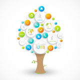 Business plan tree with place for your text. Can. Be used for your financial planning, marketing, product description, workflow layout, chart, number options Stock Photography