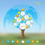 Business plan tree with place for your text and Royalty Free Stock Photography