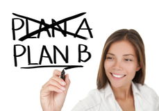 Business plan - woman drawing Royalty Free Stock Photos