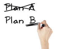 Business plan - woman drawing Royalty Free Stock Photo