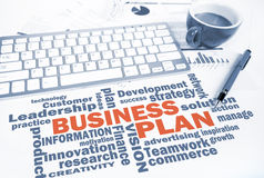 Business plan word chart Stock Images
