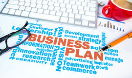 Business plan word chart Stock Photography