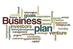 Business plan word cloud. A Business plan word cloud Stock Image