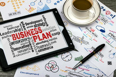 Business plan word cloud Stock Images