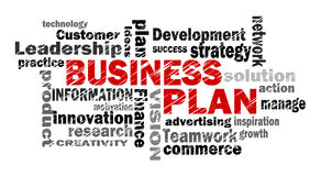 Business plan word cloud Royalty Free Stock Photography