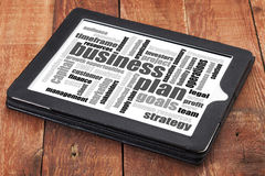 Business plan word cloud Royalty Free Stock Photo