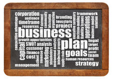 Business plan word cloud Stock Image