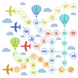 Business the plane Royalty Free Stock Photo